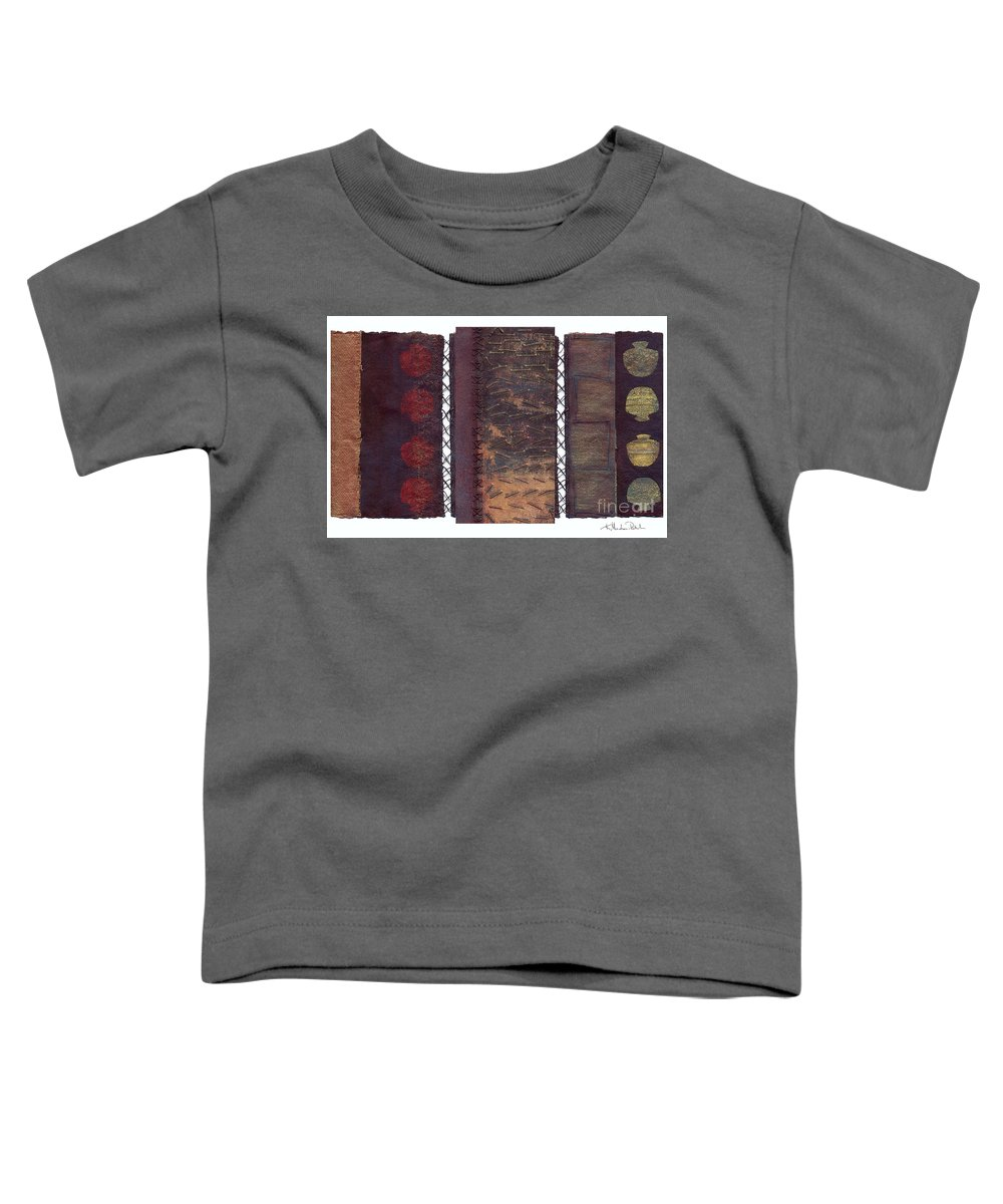 3panel Toddler T-Shirt featuring the painting Three Panel Transitional Page Format by Kerryn Madsen- Pietsch