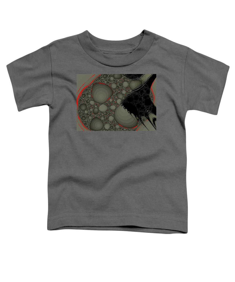 Fractals Embers Fire Cells Stones Rocks Toddler T-Shirt featuring the digital art Untitled by Veronica Jackson
