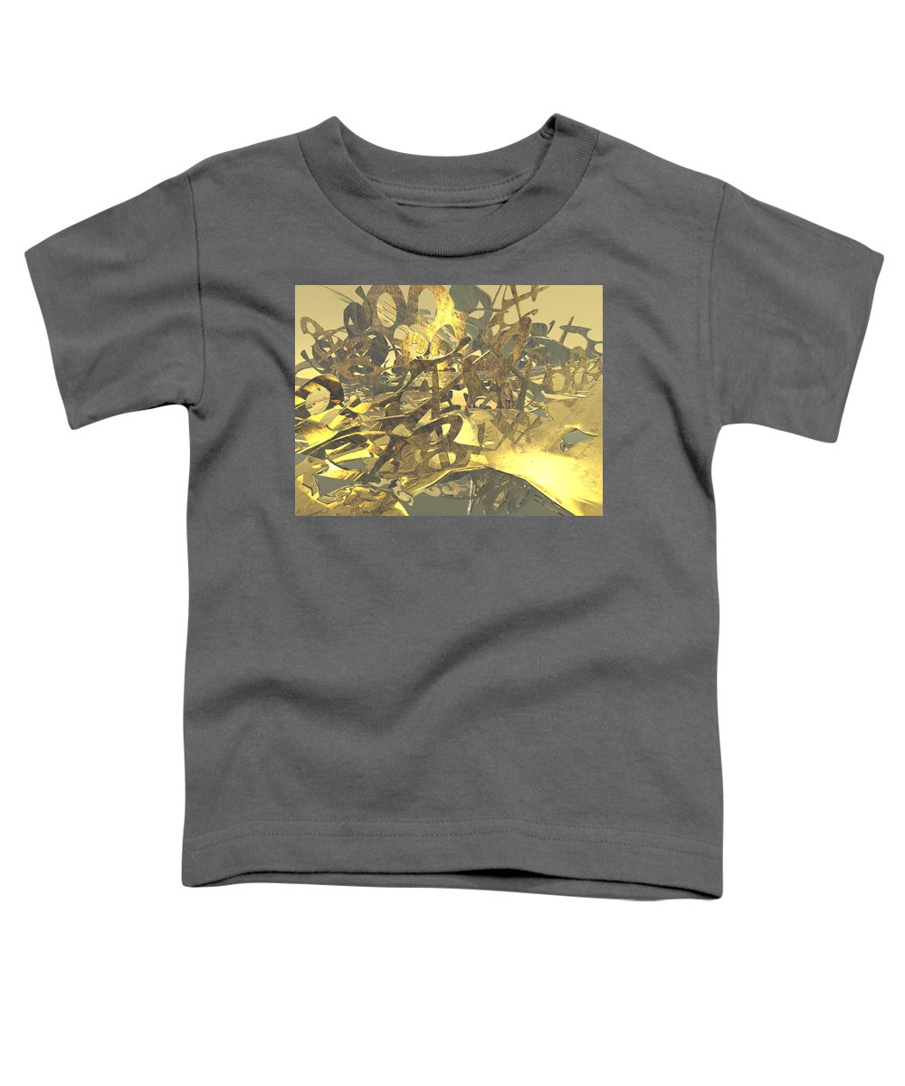 Scott Piers Toddler T-Shirt featuring the painting Urban Gold by Scott Piers