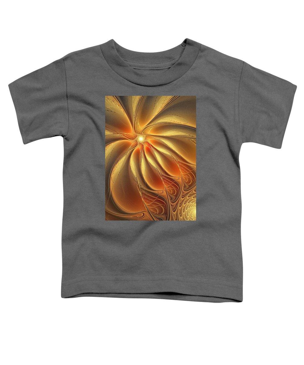 Digital Art Toddler T-Shirt featuring the digital art Warm Feelings by Amanda Moore