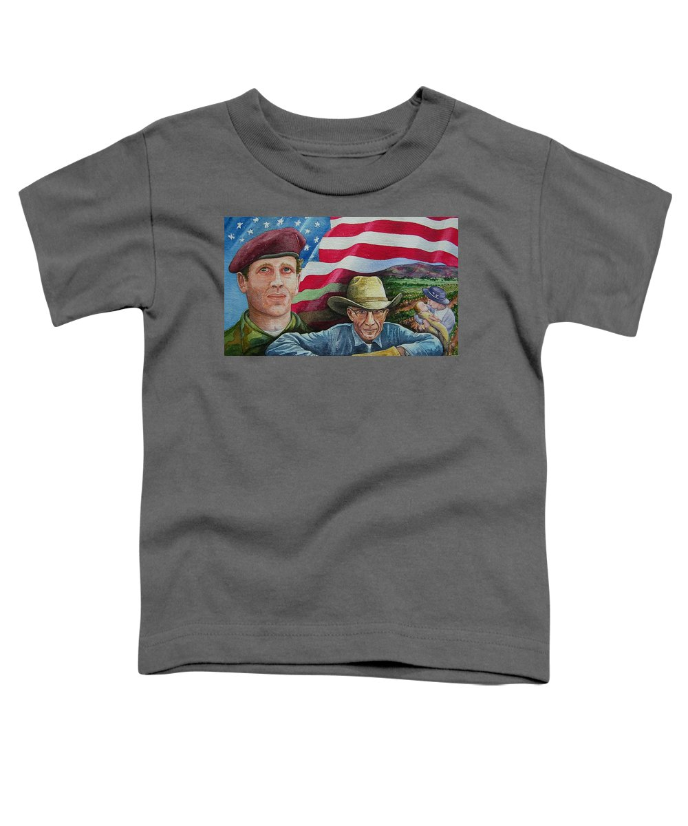 Soldier Toddler T-Shirt featuring the painting We Hold These Truths by Gale Cochran-Smith