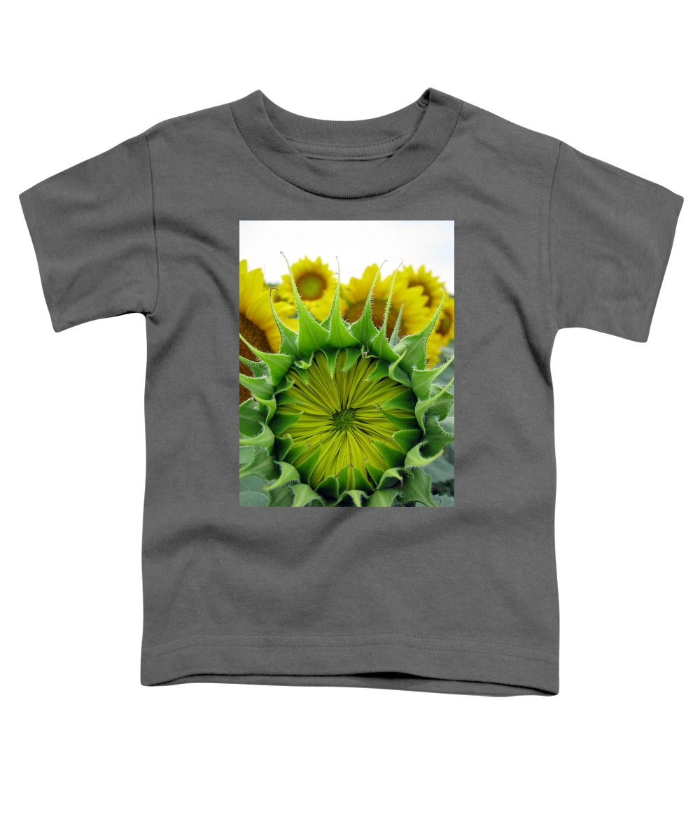 Sunflwoers Toddler T-Shirt featuring the photograph Sunflower Series by Amanda Barcon