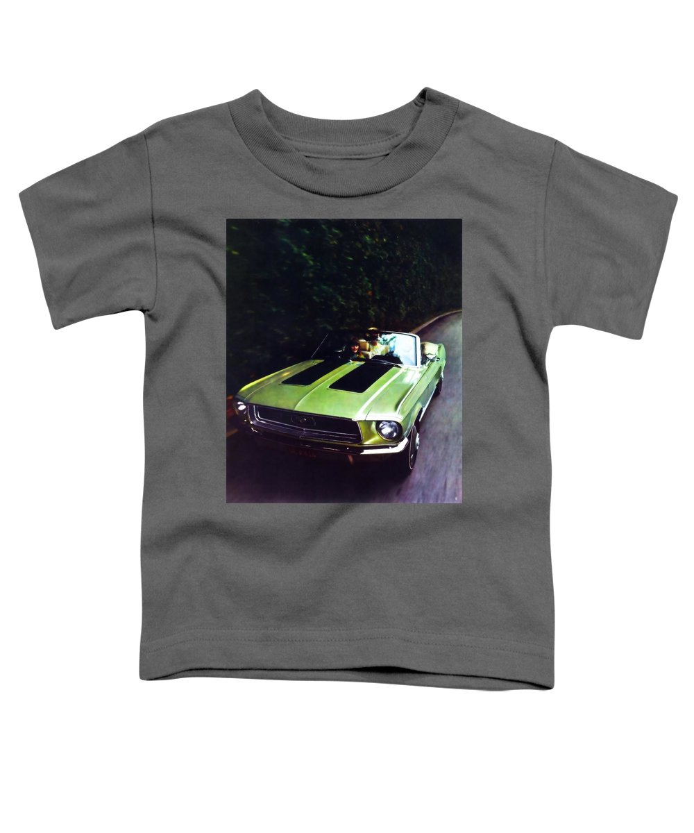 1968 Ford Mustang Toddler T-Shirt featuring the painting 1968 Ford Mustang Gt by R Muirhead Art