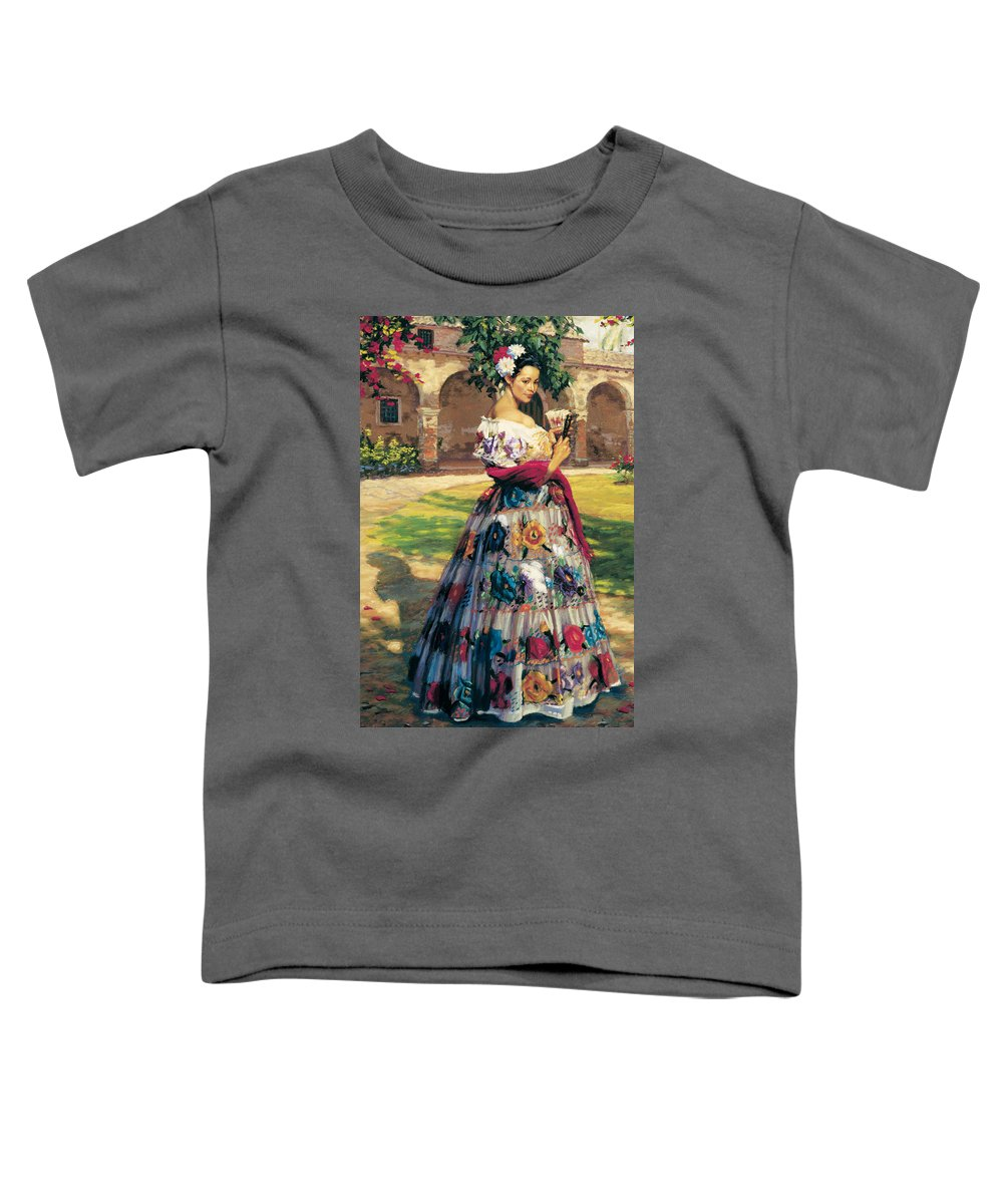 Figure Toddler T-Shirt featuring the painting Al Aire Libre by Jean Hildebrant