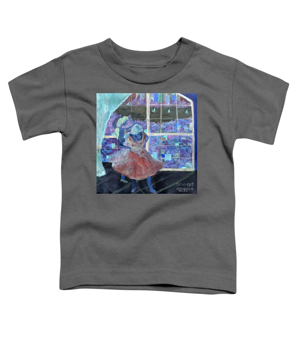 Ballet Dancers Toddler T-Shirt featuring the digital art Dansarinas by Reina Resto
