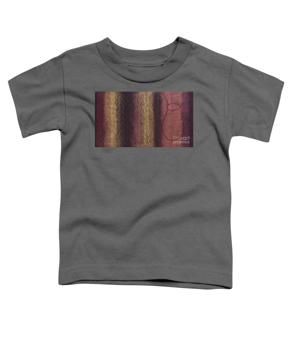 Acrylic Toddler T-Shirt featuring the painting Embodiment - Divine Source by Kerryn Madsen- Pietsch
