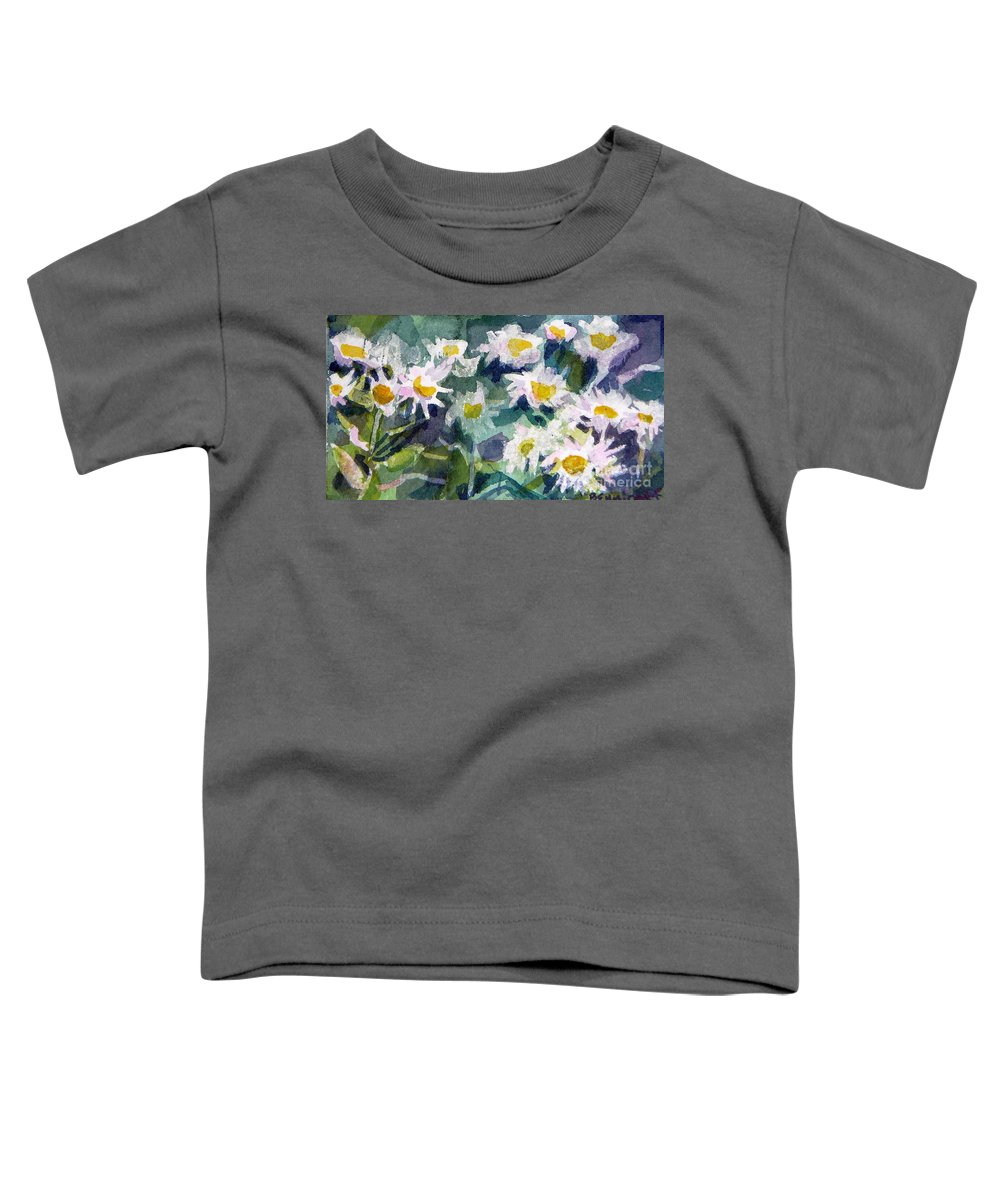 Flowers Toddler T-Shirt featuring the painting Little Asters by Jan Bennicoff