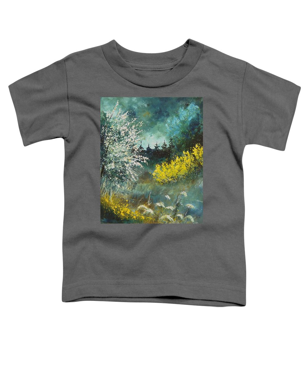 Spring Toddler T-Shirt featuring the painting Spring by Pol Ledent