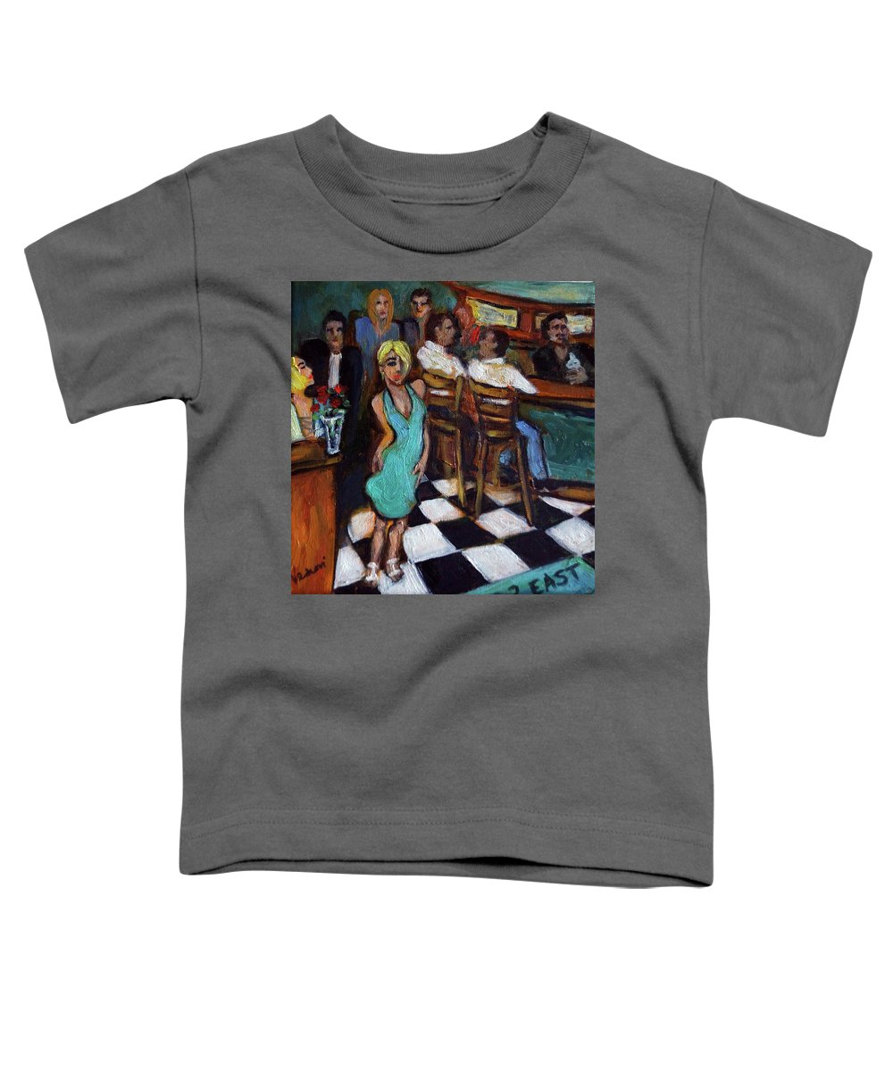 Restaurant Toddler T-Shirt featuring the painting 32 East by Valerie Vescovi