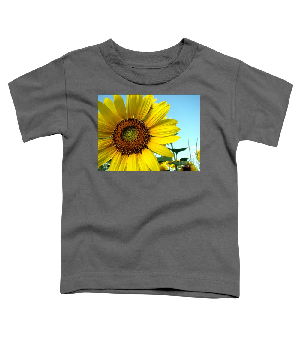 Sunflowers Toddler T-Shirt featuring the photograph Sunflower Series by Amanda Barcon