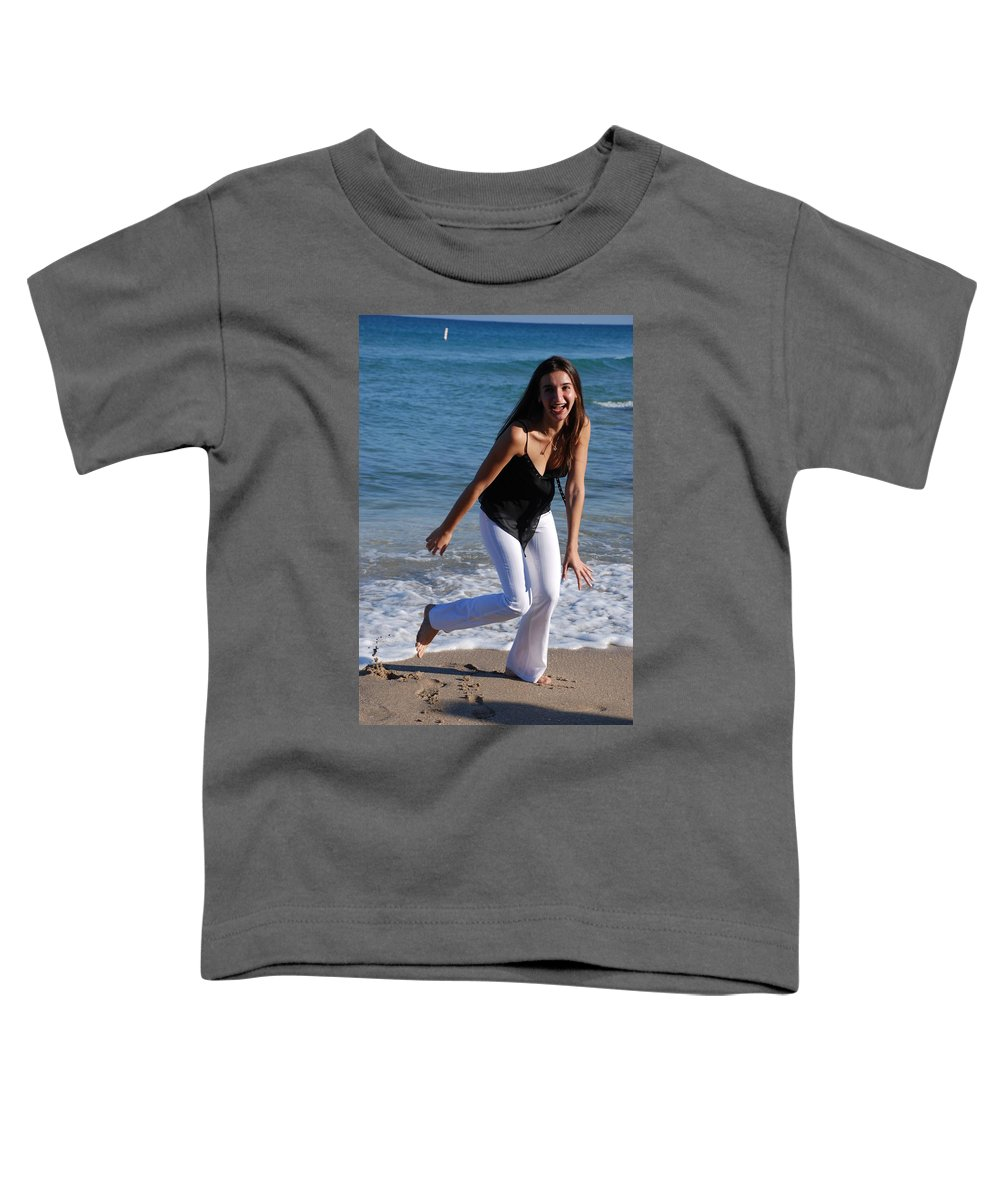Sea Scape Toddler T-Shirt featuring the photograph Gisele by Rob Hans