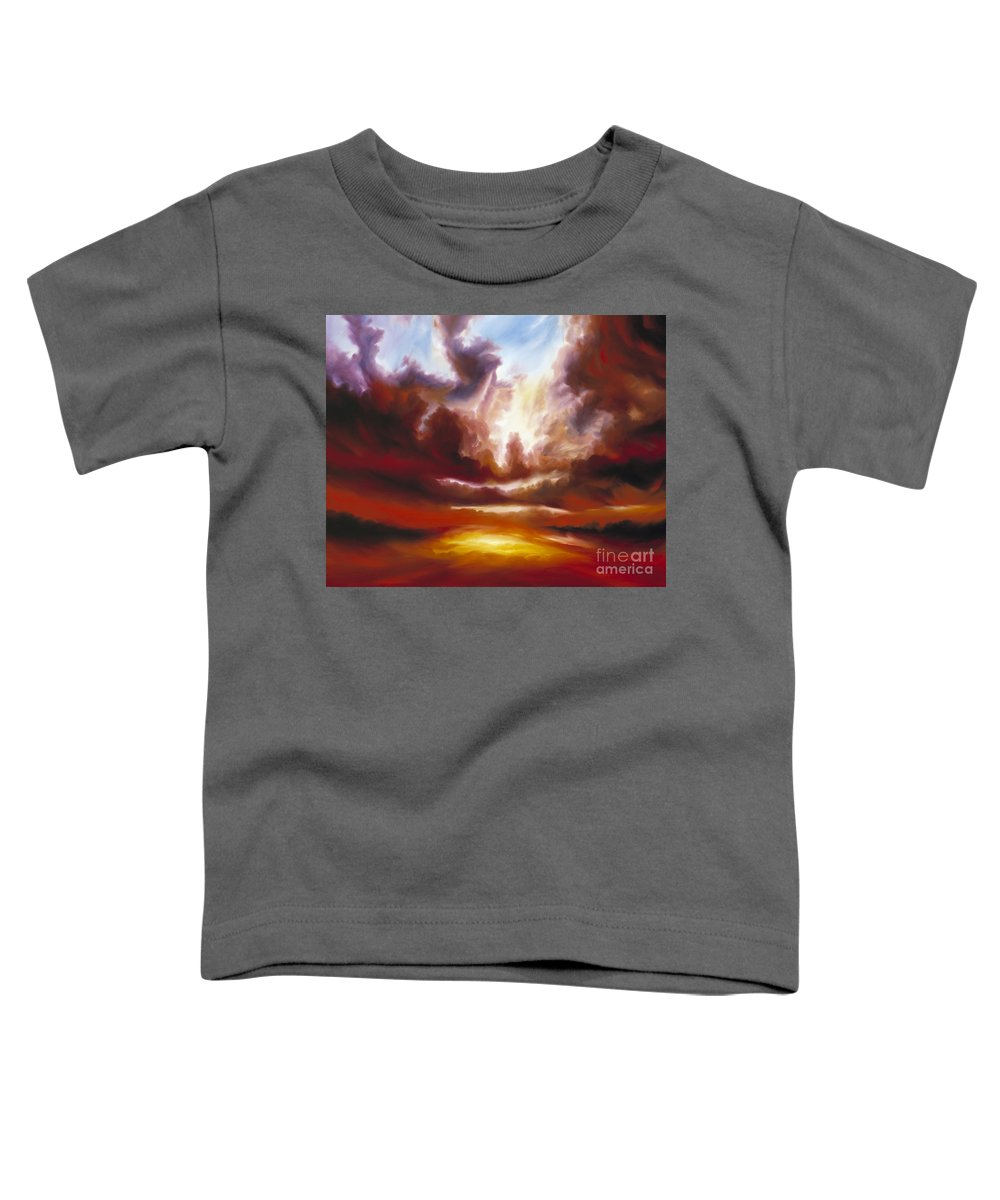 Tempest Toddler T-Shirt featuring the painting A Cosmic Storm - Genesis V by James Christopher Hill