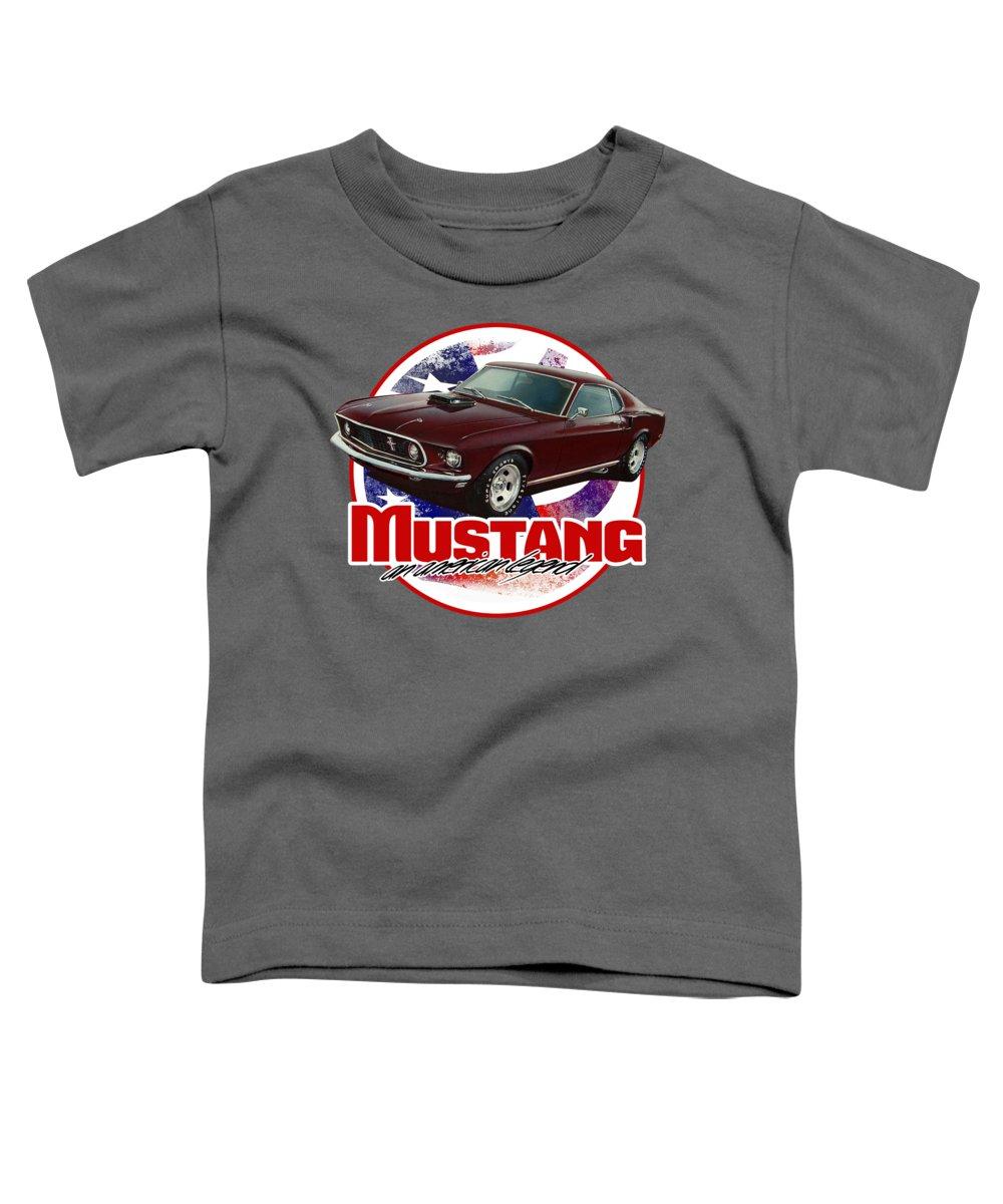 Mustang Toddler T-Shirt featuring the digital art A Fast Legend by Paul Kuras