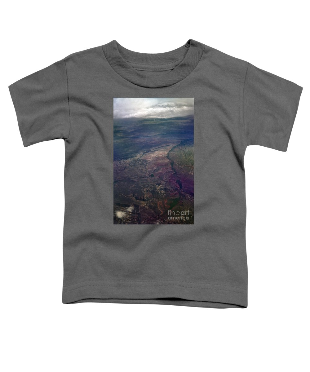 Aerial Photography Toddler T-Shirt featuring the photograph A Midwestern Landscape by Richard Rizzo