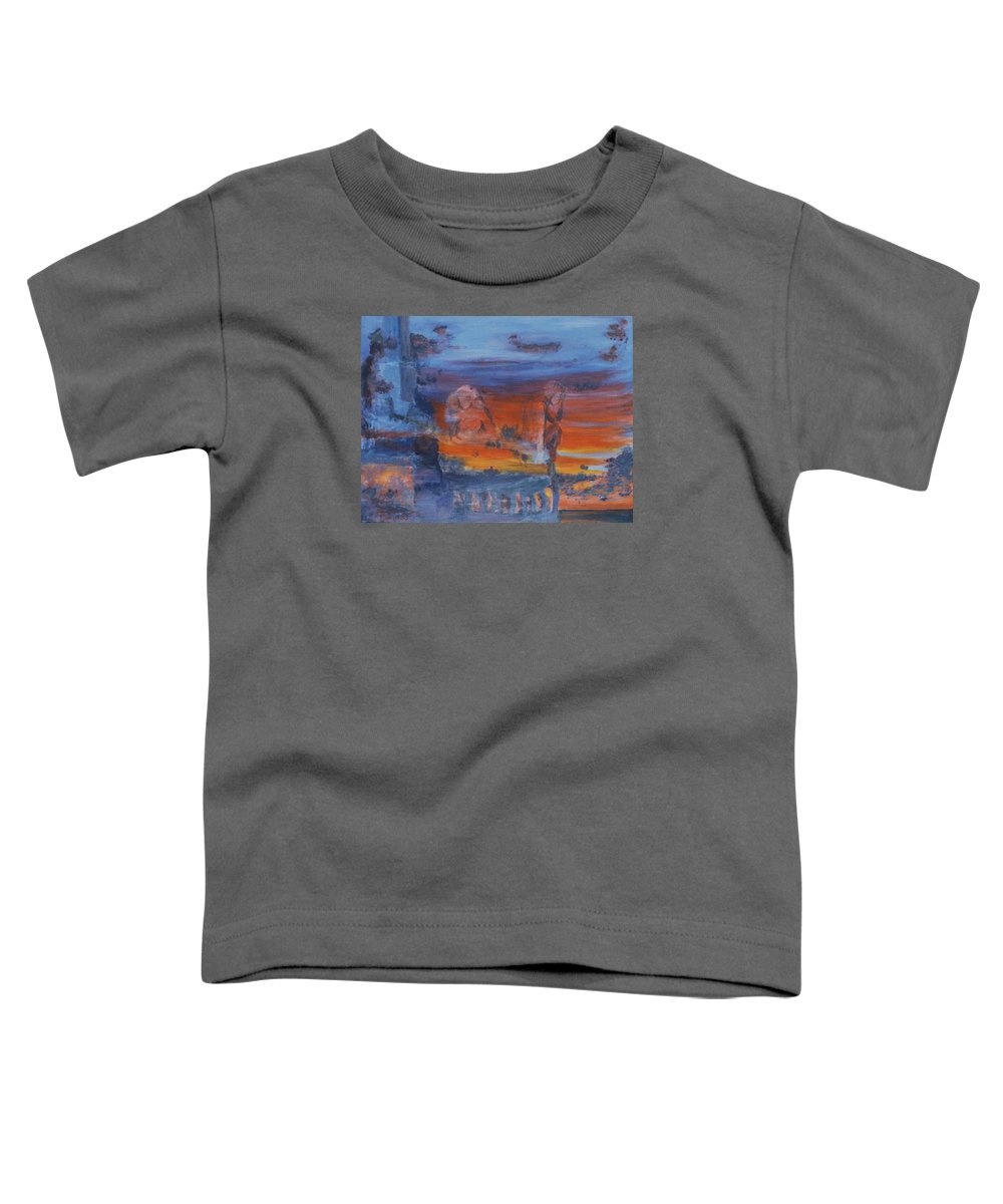 Abstract Toddler T-Shirt featuring the painting A Mystery Of Gods by Steve Karol