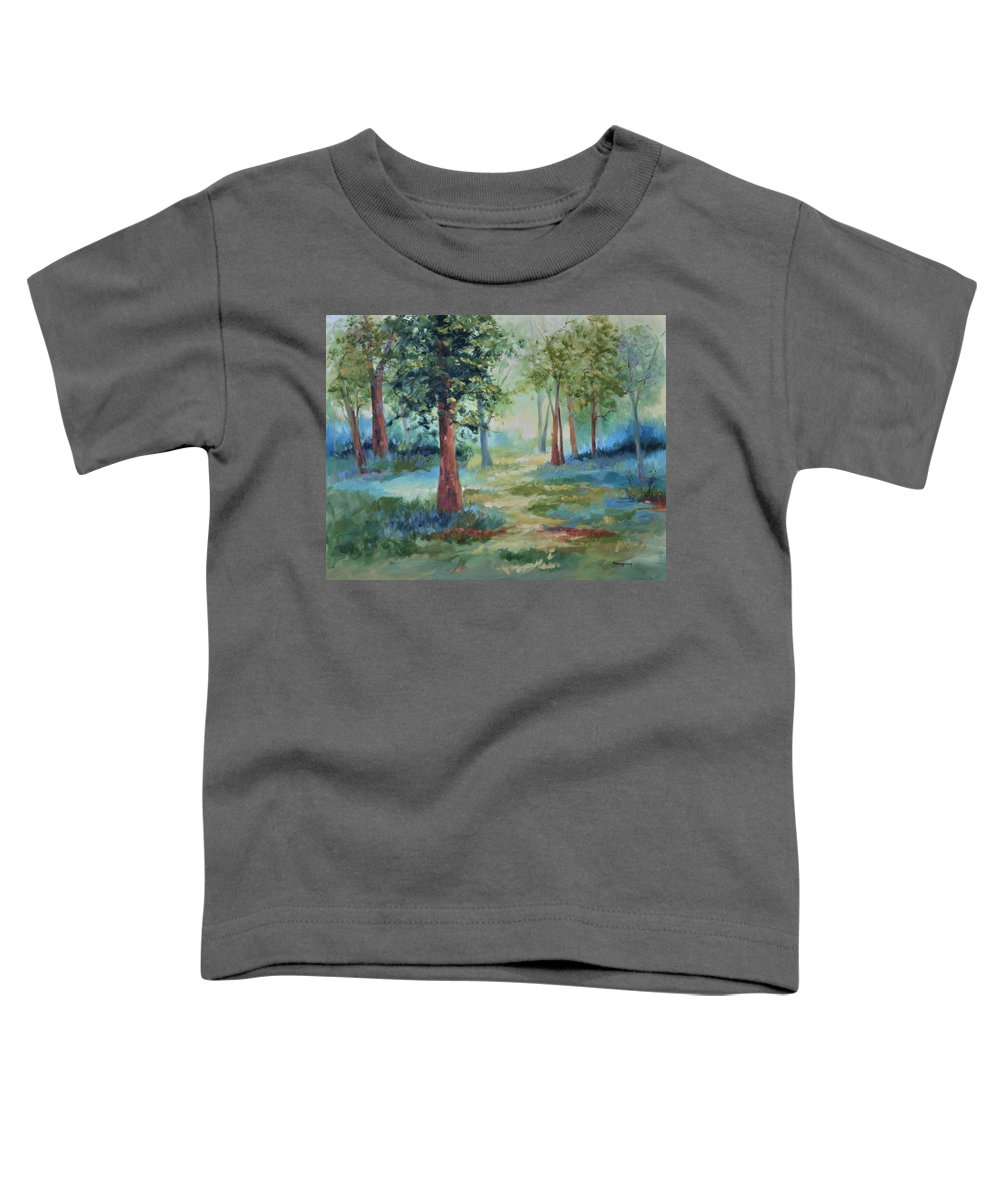 Trees Toddler T-Shirt featuring the painting A Path Not Taken by Ginger Concepcion