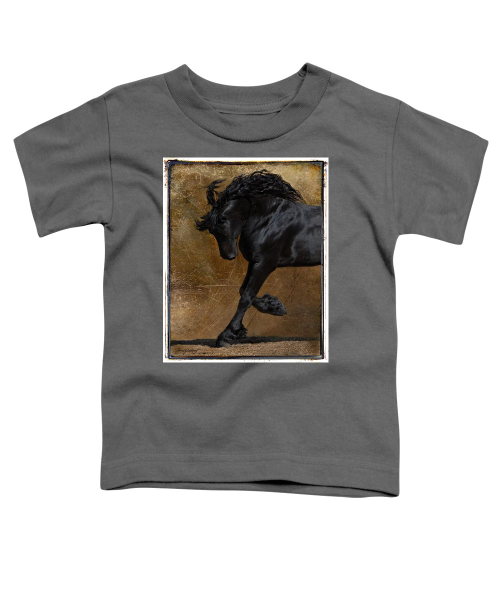 Horse Toddler T-Shirt featuring the photograph A Regal Bow by Jean Hildebrant