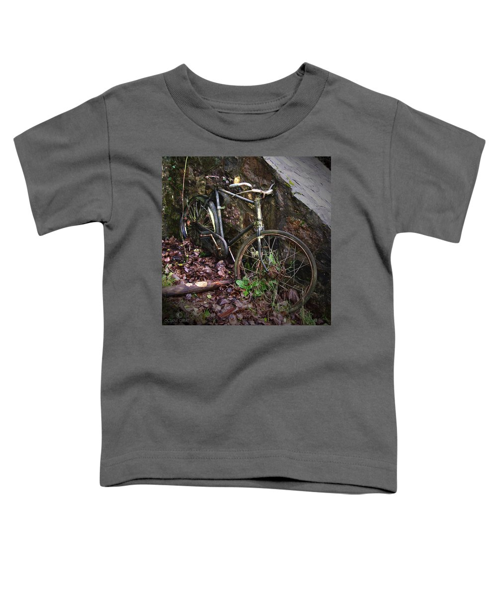 Irish Toddler T-Shirt featuring the photograph Abandoned Bicycle by Tim Nyberg