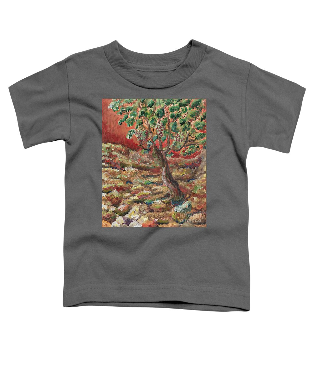Abide Toddler T-Shirt featuring the painting Abide by Nadine Rippelmeyer