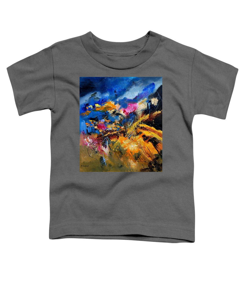 Abstract Toddler T-Shirt featuring the painting Abstract 7808082 by Pol Ledent