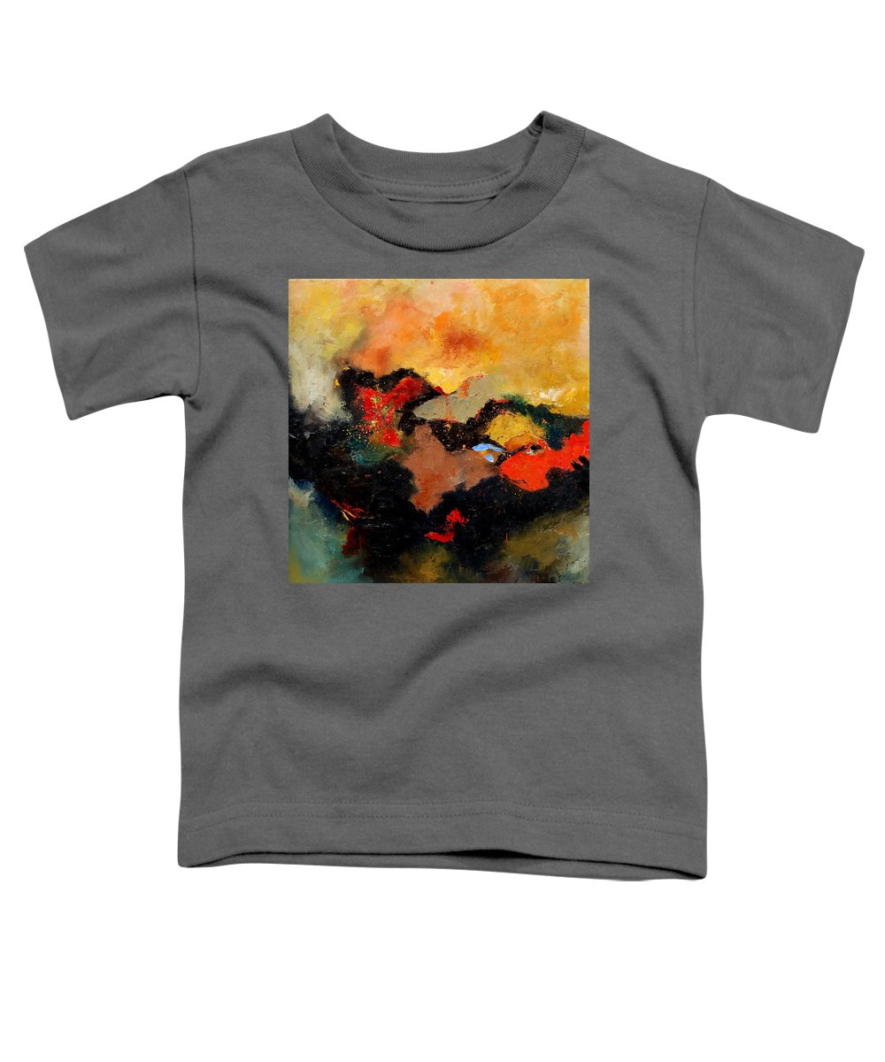 Abstract Toddler T-Shirt featuring the painting Abstract 8080 by Pol Ledent
