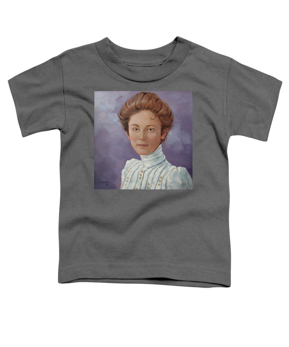 Posthumous Portrait Toddler T-Shirt featuring the painting Ada Douglas by Jerrold Carton