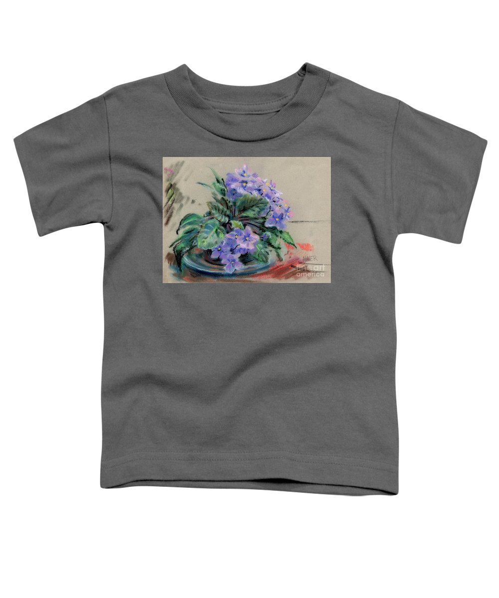 African Violets Toddler T-Shirt featuring the drawing African Violet by Donald Maier