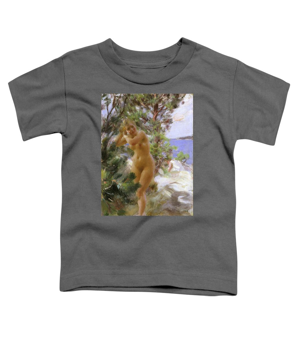 After The Bath Toddler T-Shirt featuring the painting After The Bath by Anders Zorn