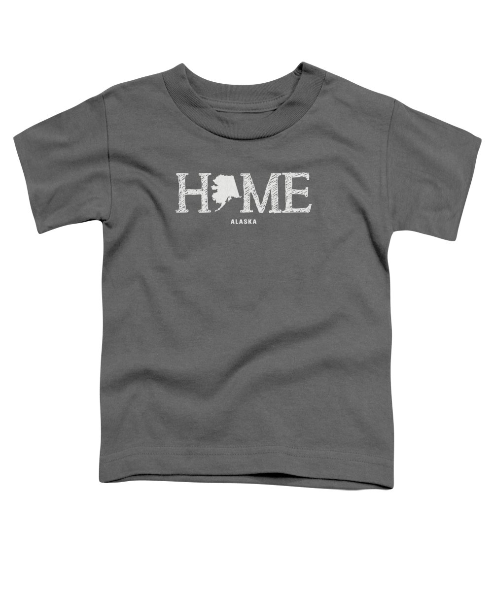 Alaska Toddler T-Shirt featuring the mixed media Ak Home by Nancy Ingersoll