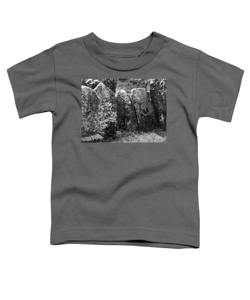 Ireland Toddler T-Shirt featuring the photograph All In A Row At Fuerty Cemetery Roscommon Ireland by Teresa Mucha