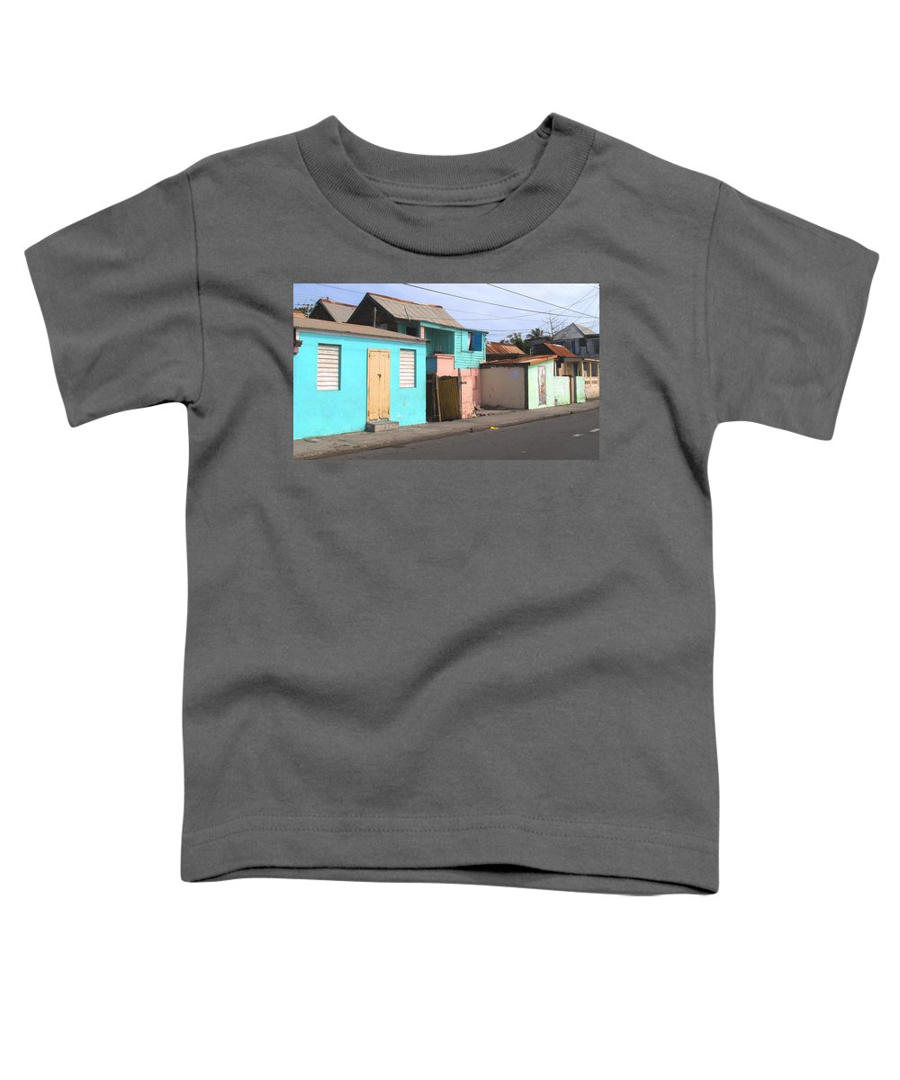 St Kitts Toddler T-Shirt featuring the photograph Along Bay Road by Ian MacDonald