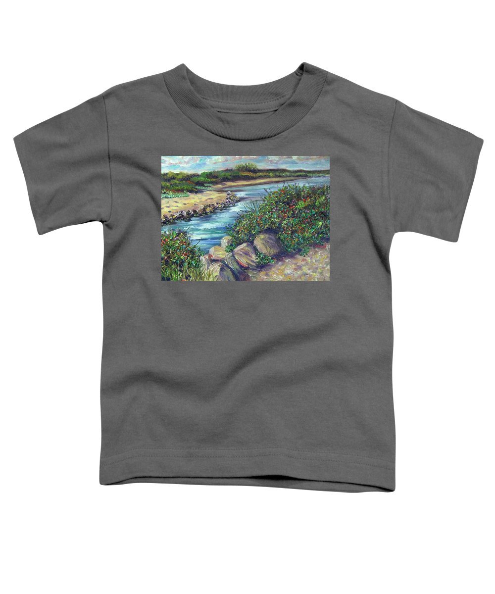 New England Toddler T-Shirt featuring the painting Along The Connecticut Shore by Richard Nowak