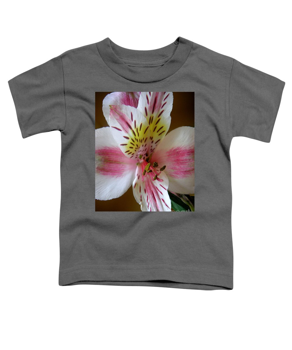 Nature Toddler T-Shirt featuring the photograph Alstroemerias - Close by Lucyna A M Green