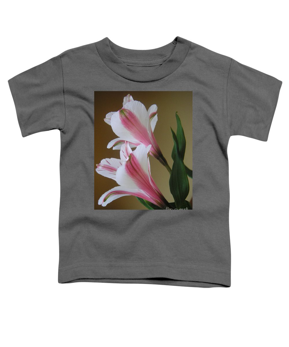 Nature Toddler T-Shirt featuring the photograph Alstroemerias - Doubled by Lucyna A M Green