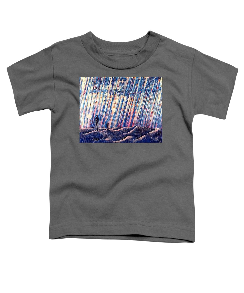 Father Toddler T-Shirt featuring the painting Always by Rollin Kocsis