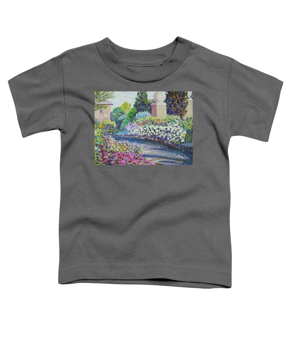 Flowers Toddler T-Shirt featuring the painting Amelia Park Pathway by Richard Nowak