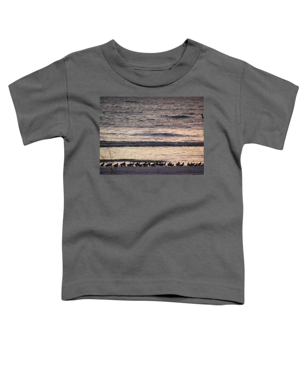 Evening Stroll Toddler T-Shirt featuring the photograph An Evening Stroll by Ed Smith