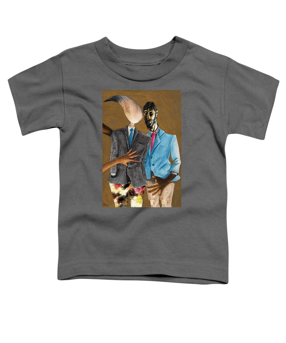 Sex Gay Androginality Couple Love Relation Toddler T-Shirt featuring the mixed media Androginality by Veronica Jackson
