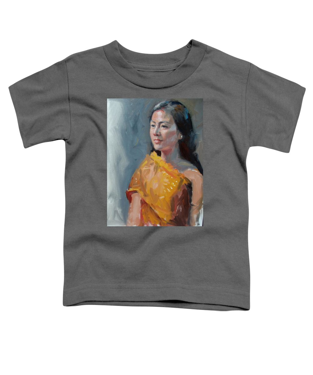 Portrait Toddler T-Shirt featuring the painting Anna by Dianne Panarelli Miller
