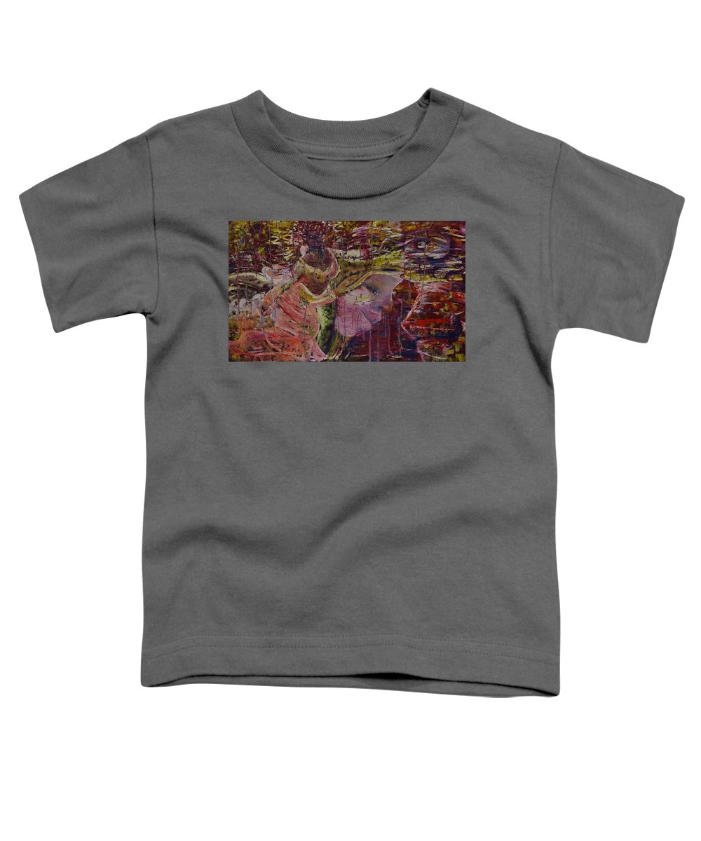 Portrait Toddler T-Shirt featuring the painting April 29th. by Peggy Blood
