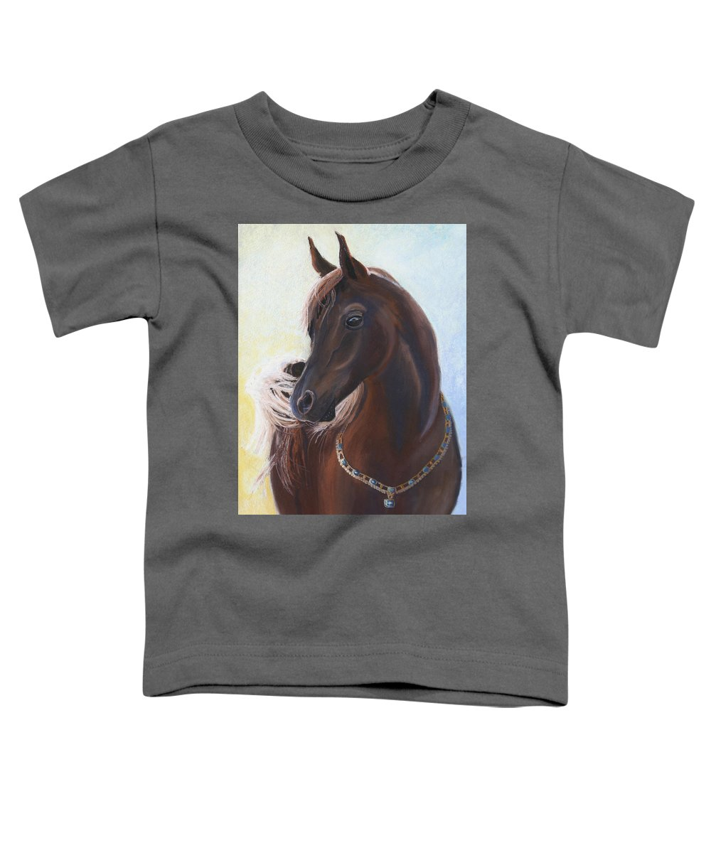 Horse Toddler T-Shirt featuring the painting Arabian Prince by Heather Coen