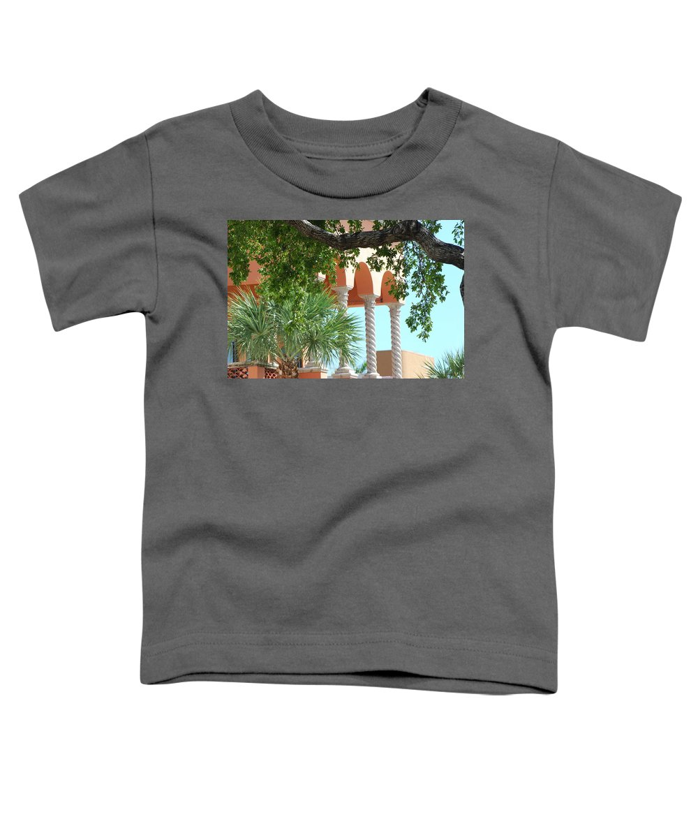 Architecture Toddler T-Shirt featuring the photograph Arches Thru The Trees by Rob Hans
