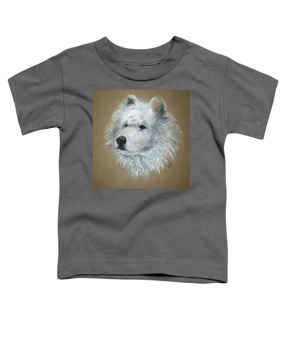 Pastel Toddler T-Shirt featuring the drawing Arctic Majestry by Cori Solomon