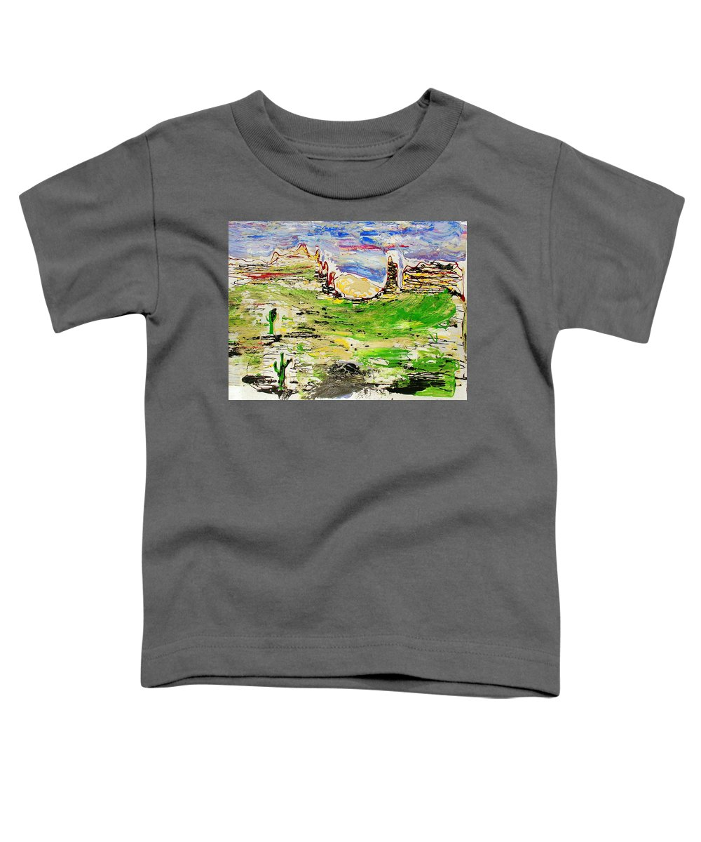 Cactus Toddler T-Shirt featuring the painting Arizona Skies by J R Seymour
