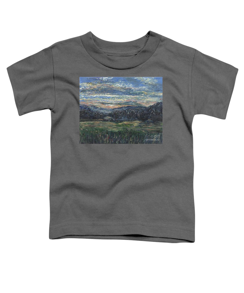 Impressionism Toddler T-Shirt featuring the painting Arkansas Sunrise by Nadine Rippelmeyer