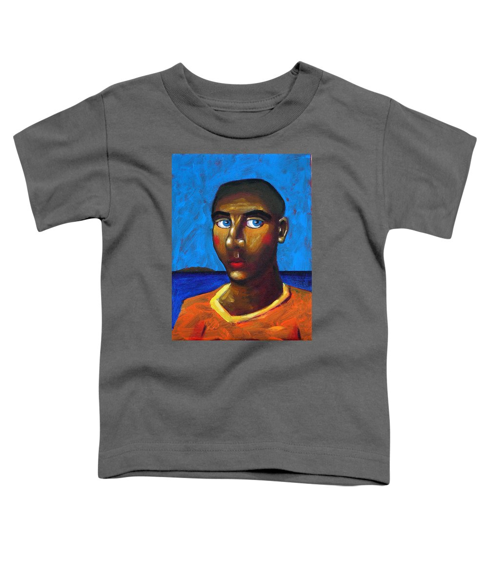Arsonist Toddler T-Shirt featuring the painting Arsonist by Dimitris Milionis