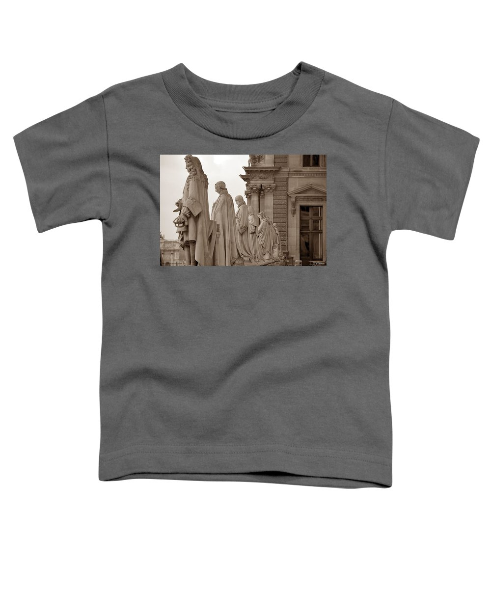 Paris Toddler T-Shirt featuring the photograph Art Observing Life by J Todd