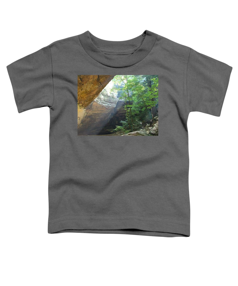Photograph Toddler T-Shirt featuring the photograph Ash Cave by Mindy Newman