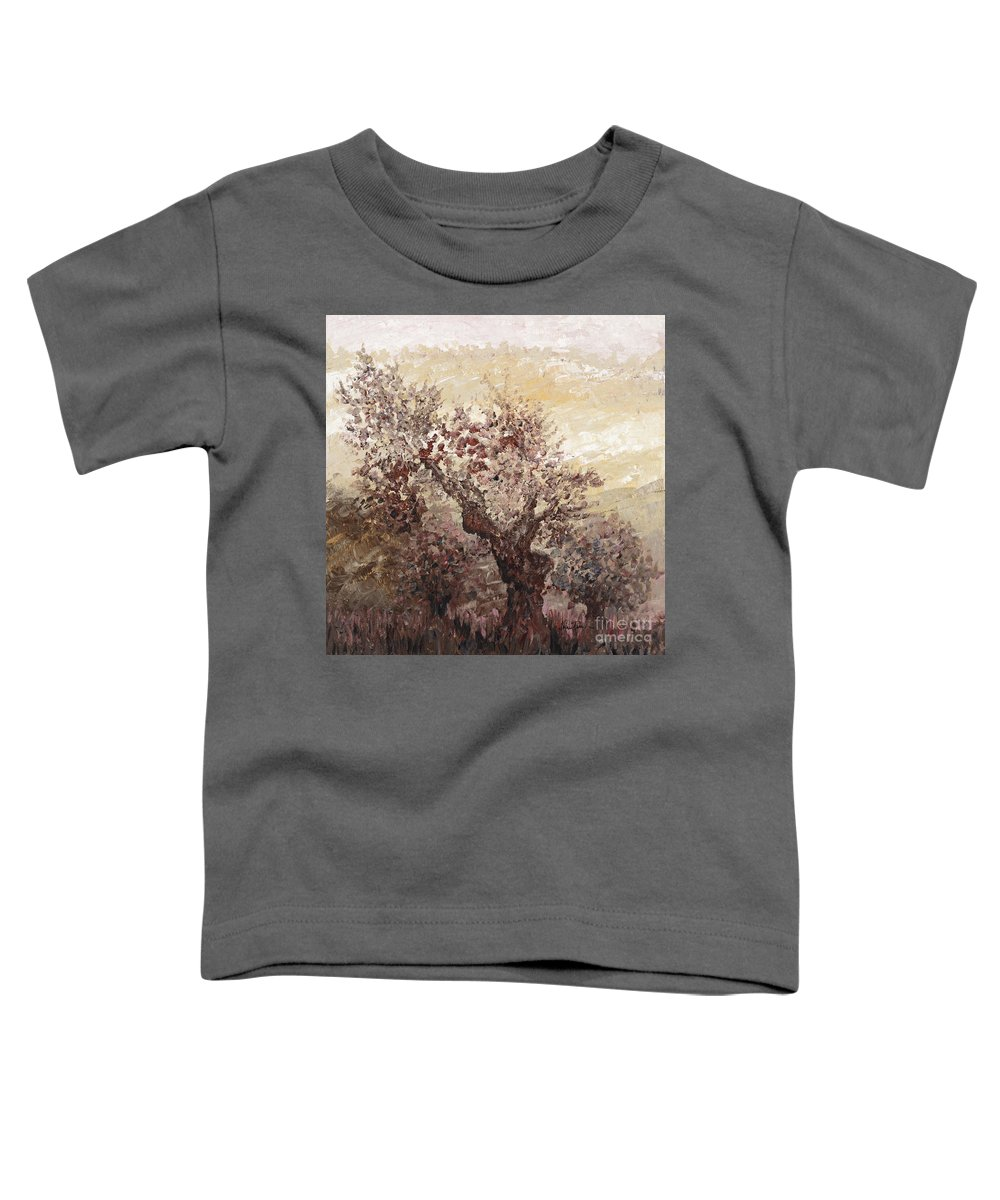 Landscape Toddler T-Shirt featuring the painting Asian Mist by Nadine Rippelmeyer