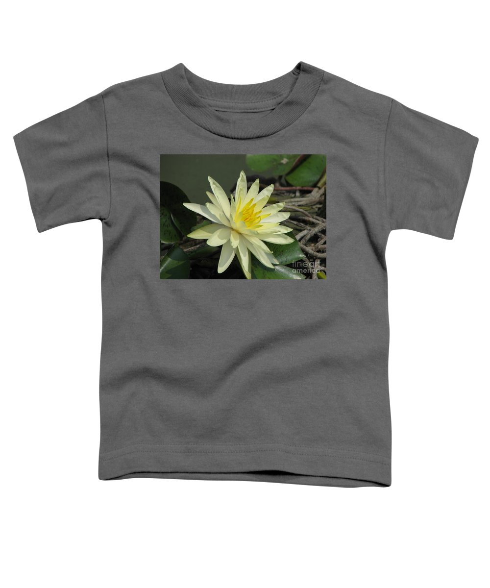 Lilly Toddler T-Shirt featuring the photograph At The Pond by Amanda Barcon